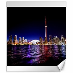 Toronto City Cn Tower Skydome Canvas 20  x 24