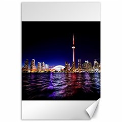 Toronto City Cn Tower Skydome Canvas 24  x 36