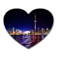 Toronto City Cn Tower Skydome Heart Mousepads