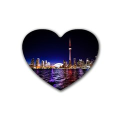Toronto City Cn Tower Skydome Heart Coaster (4 pack)