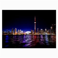 Toronto City Cn Tower Skydome Large Glasses Cloth