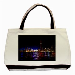 Toronto City Cn Tower Skydome Basic Tote Bag (Two Sides)