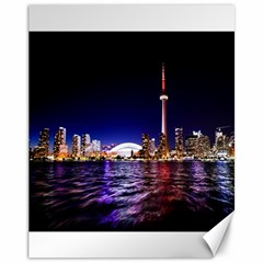 Toronto City Cn Tower Skydome Canvas 11  x 14