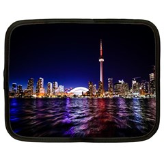 Toronto City Cn Tower Skydome Netbook Case (Large)