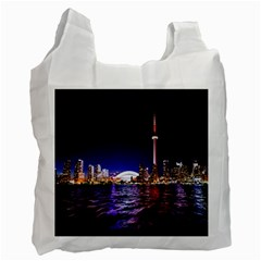 Toronto City Cn Tower Skydome Recycle Bag (Two Side)