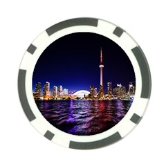 Toronto City Cn Tower Skydome Poker Chip Card Guard (10 pack)