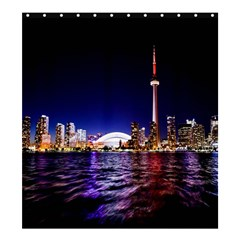 Toronto City Cn Tower Skydome Shower Curtain 66  x 72  (Large)