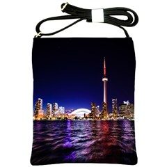 Toronto City Cn Tower Skydome Shoulder Sling Bags