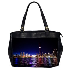 Toronto City Cn Tower Skydome Office Handbags (2 Sides)