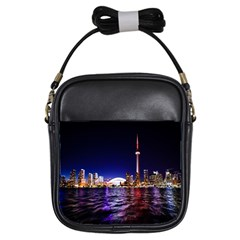 Toronto City Cn Tower Skydome Girls Sling Bags