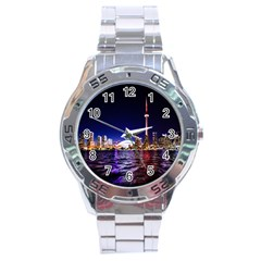 Toronto City Cn Tower Skydome Stainless Steel Analogue Watch