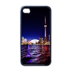Toronto City Cn Tower Skydome Apple iPhone 4 Case (Black)
