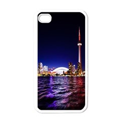 Toronto City Cn Tower Skydome Apple iPhone 4 Case (White)