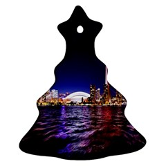 Toronto City Cn Tower Skydome Christmas Tree Ornament (Two Sides)