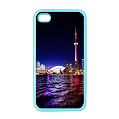Toronto City Cn Tower Skydome Apple iPhone 4 Case (Color)