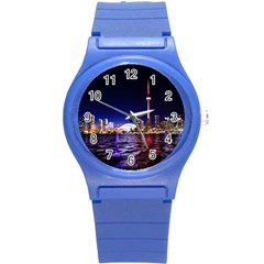 Toronto City Cn Tower Skydome Round Plastic Sport Watch (S)