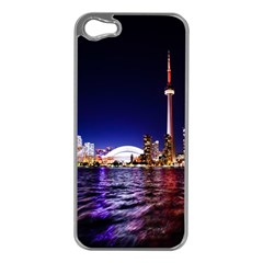 Toronto City Cn Tower Skydome Apple iPhone 5 Case (Silver)
