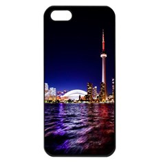 Toronto City Cn Tower Skydome Apple Iphone 5 Seamless Case (black) by Simbadda