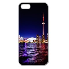 Toronto City Cn Tower Skydome Apple Seamless iPhone 5 Case (Clear)
