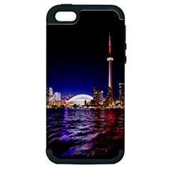 Toronto City Cn Tower Skydome Apple iPhone 5 Hardshell Case (PC+Silicone)