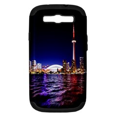 Toronto City Cn Tower Skydome Samsung Galaxy S III Hardshell Case (PC+Silicone)