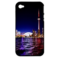 Toronto City Cn Tower Skydome Apple iPhone 4/4S Hardshell Case (PC+Silicone)
