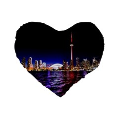 Toronto City Cn Tower Skydome Standard 16  Premium Heart Shape Cushions