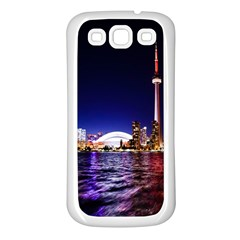 Toronto City Cn Tower Skydome Samsung Galaxy S3 Back Case (White)