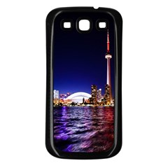 Toronto City Cn Tower Skydome Samsung Galaxy S3 Back Case (Black)