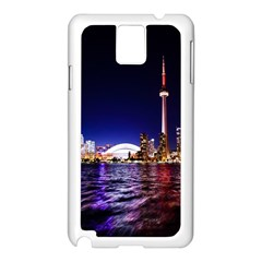 Toronto City Cn Tower Skydome Samsung Galaxy Note 3 N9005 Case (White)