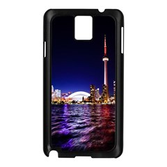 Toronto City Cn Tower Skydome Samsung Galaxy Note 3 N9005 Case (Black)