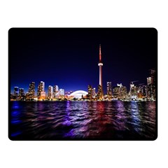 Toronto City Cn Tower Skydome Double Sided Fleece Blanket (Small)