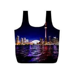 Toronto City Cn Tower Skydome Full Print Recycle Bags (S)