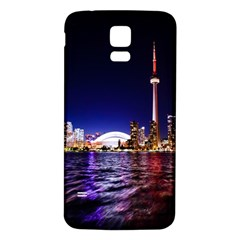 Toronto City Cn Tower Skydome Samsung Galaxy S5 Back Case (White)