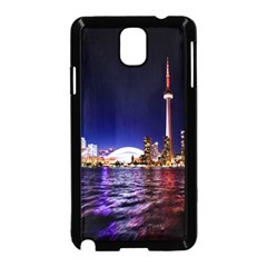 Toronto City Cn Tower Skydome Samsung Galaxy Note 3 Neo Hardshell Case (Black)