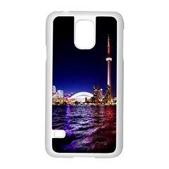 Toronto City Cn Tower Skydome Samsung Galaxy S5 Case (White)