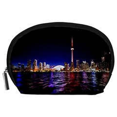 Toronto City Cn Tower Skydome Accessory Pouches (Large)