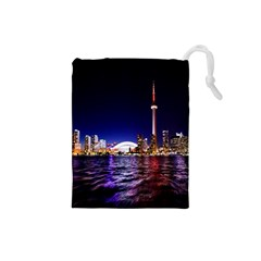 Toronto City Cn Tower Skydome Drawstring Pouches (Small)