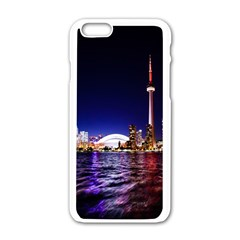 Toronto City Cn Tower Skydome Apple iPhone 6/6S White Enamel Case