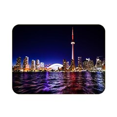 Toronto City Cn Tower Skydome Double Sided Flano Blanket (Mini)