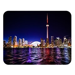 Toronto City Cn Tower Skydome Double Sided Flano Blanket (Large)