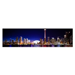Toronto City Cn Tower Skydome Satin Scarf (oblong)