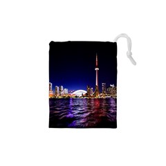 Toronto City Cn Tower Skydome Drawstring Pouches (XS)
