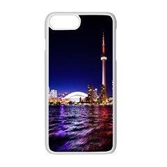 Toronto City Cn Tower Skydome Apple iPhone 7 Plus Seamless Case (White)