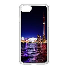 Toronto City Cn Tower Skydome Apple iPhone 7 Seamless Case (White)