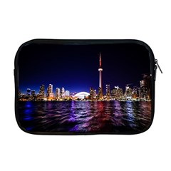 Toronto City Cn Tower Skydome Apple Macbook Pro 17  Zipper Case by Simbadda