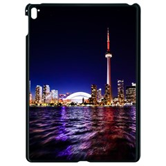 Toronto City Cn Tower Skydome Apple Ipad Pro 9 7   Black Seamless Case