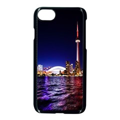 Toronto City Cn Tower Skydome Apple iPhone 8 Seamless Case (Black)
