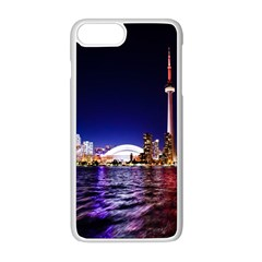 Toronto City Cn Tower Skydome Apple iPhone 8 Plus Seamless Case (White)