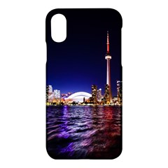 Toronto City Cn Tower Skydome Apple iPhone X Hardshell Case